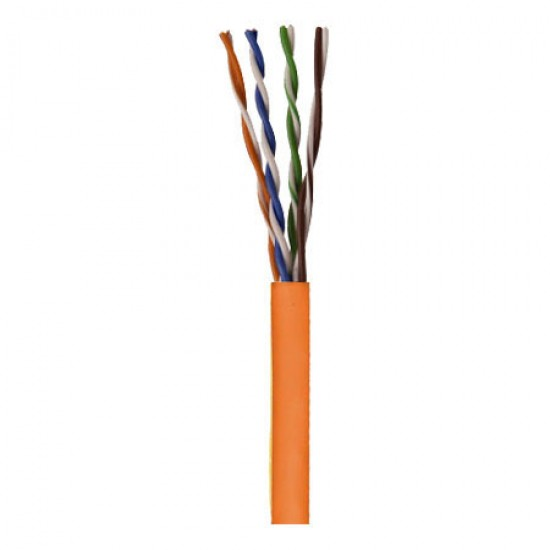 96263-46-03 Coleman Cable 1000' Network Cable Unshielded Twisted Pairs (UTP) - CAT5 - Pull Box - Orange