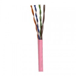 96263-46-21 Coleman Cable 1000' Network Cable Unshielded Twisted Pairs (UTP) - CAT5e - Pull Box - Pink
