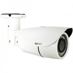 A41 ACTi 2.8-12mm 30FPS @ 2048 x 1536 Outdoor IR Day/Night WDR Bullet IP Security Camera 12VDC/POE