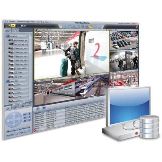 BRS-BASE-16A Bosch Recording Station Base License 16 IP Channels 4 Remote Stations E-License