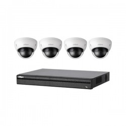 BN441E42 Dahua 4 Channel NVR Kit 200 Mbps Max Throughput - 2TB w/ 4 x 3MP Dome Security Cameras