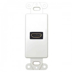 20-4501-WH Datacomm Decor Wall Plate Insert with 90 Degree HDMI Connector