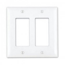20-5121 2-Gang Decor Wall Plate - Ivory