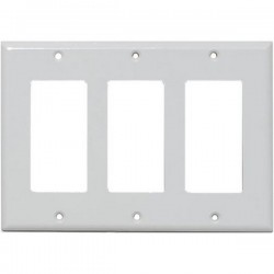 20-5132 3-Gang Decor Wall Plate - White
