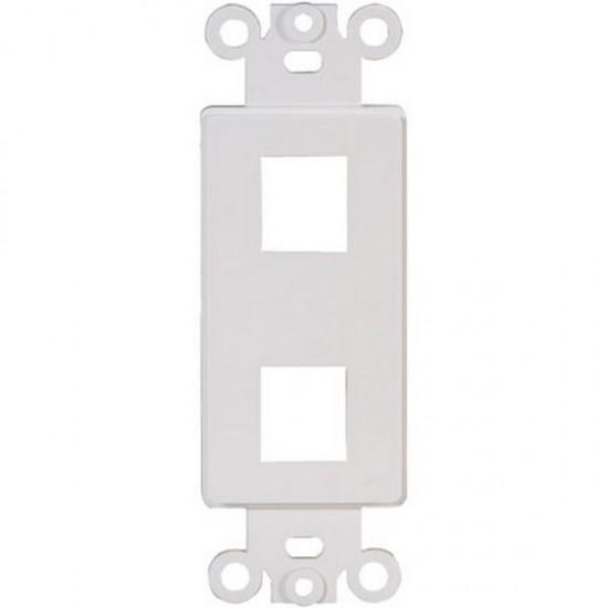 20-5152 2 Keystone Insert Decor Plate - White