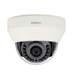 LND-6011R Hanwha Techwin 3mm 30FPS @ 1920 x 1080 Outdoor IR Day/Night WDR Dome IP Security Camera PoE