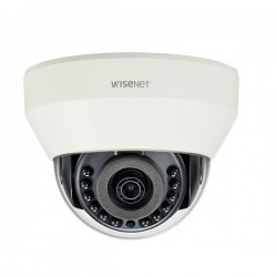 LND-6021R Hanwha Techwin 4mm 30FPS @ 1920 x 1080 Outdoor IR Day/Night WDR Dome IP Security Camera PoE