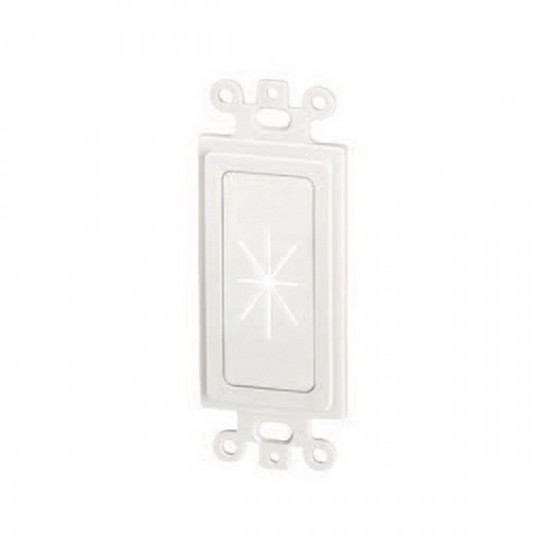 45-0016-WH Datacomm Decor Insert with Flexible Opening - White