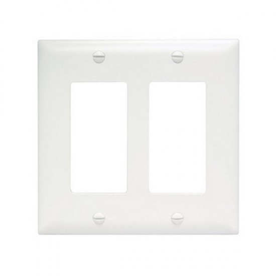 TP262W-20 Legrand On-Q 2 Gang Decorator Wall Plate - White - 20 Pack