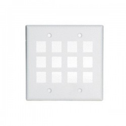 WP3212-WH Legrand On-Q 2-Gang 12-Port Wall Plate White