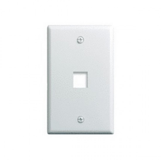 WP3401-WH-10 Legrand On-Q 1-Gang 1-Port Wall Plate White – 10 Pack