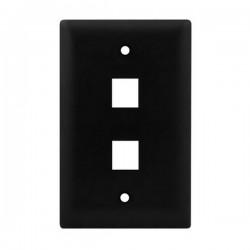 WP3402-BK Legrand On-Q 1-Gang 2-Port Wall Plate - Black