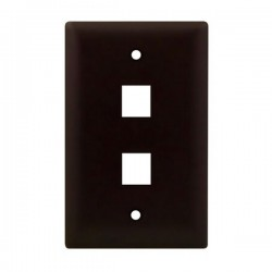 WP3402-BR Legrand On-Q 1-Gang 2-Port Wall Plate Brown