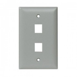 WP3402-GY Legrand On-Q 1-Gang 2-Port Wall Plate - Gray