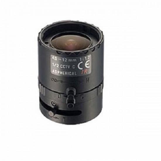 "12VG412ASIR-SQ Tamron 1/2"" 4-12mm F/1.2 IR Aspherical w/ Connector DC Iris Lens"