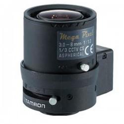 M13VG308 Tamron 1/3 3.0-8MM F/1.0 Aspherical w/ Connector Mega Pixel Compatible Vari-Focal